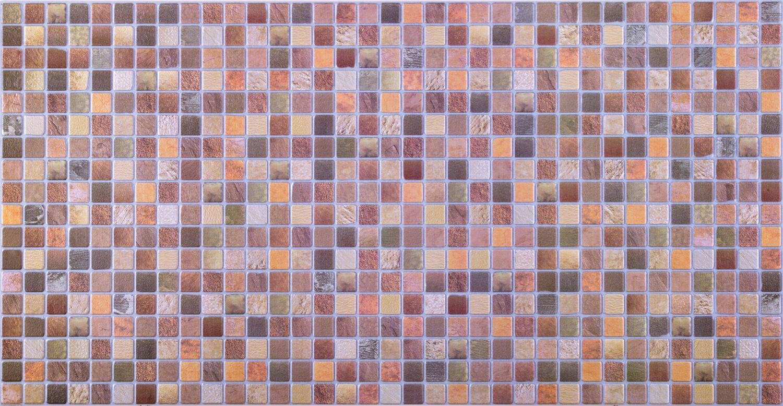 Panou decorativ Mosaic Brown Antiquity, PVC, multicolor, 94.4 x 48.8 cm, 0.4 mm