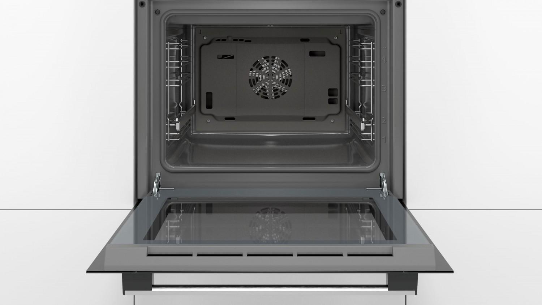 Cuptor electric incorporabil Bosch HBF134ES0, clasa A, 66 litri, 7 functii, grill, convectie aer 3D Plus, sistem EcoClean Direct, 3300 W, argintiu