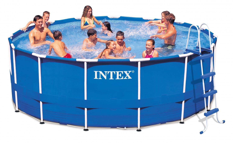 Dedeman piscina cu cadru metalic intex 457x122cm dedicat for Piscina 457 x 122
