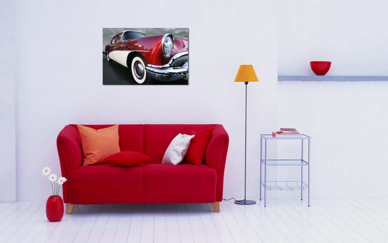 Tablou dualview DTB4207 Masina retro visinie, canvas, stil sport, 60 x 90 cm