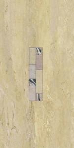 Decor faianta baie / bucatarie Agora Siracusa lucios bej 25 x 50 cm