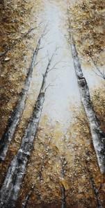 Tablou 118 169031-7, canvas + lemn de brad + vopsea acrilica, stil peisaj, 100 x 50 cm