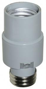 Adaptor dulie E27-E27 termoplastic Lohuis cu fotocelula