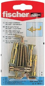 Diblu metalic, pentru cavitati, cu surub cu carlig, HM 5 X 37 mm, 4 bucati