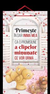 Tablou mic cu mesaj Valentine s  Day, ES9923, dreptunghiular, 25 x 14 cm