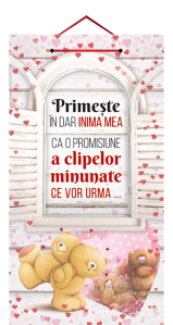 Tablou cu mesaj Valentine s Day, ES9462, dreptunghiular, 48 x 26 cm