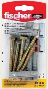 Diblu universal din nylon cu surub, SX 10 X 50 mm