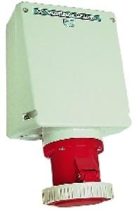 Priza industriala trifazata aparenta Walther 179, 125A 5P IP67