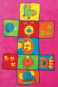 Covor camera copii Sintelon Play Galaxy Kids 07VKR polipropilena frize dreptunghiular multicolor 120 x 170 cm