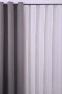 Perdea XL141224, bumbac + poliester, alb, H 280 cm