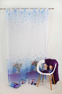 Perdea copii, Frozen, alb, H 280 cm