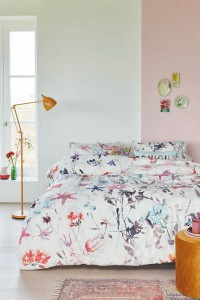 Lenjerie de pat, 2 persoane, Sweet flower, bumbac 100%, 4 piese, multicolor