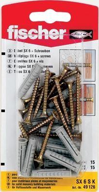Diblu universal din nylon cu surub, SX 6 x 30 mm