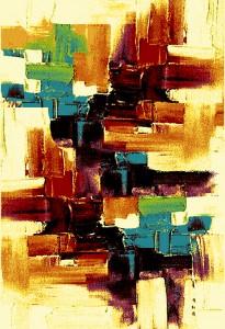 Covor living / dormitor Oriental Weavers Malaga E 8022/CE8 polipropilena frize dreptunghiular multicolor 200 x 285 cm