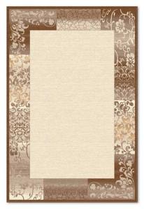 Covor living / dormitor Carpeta Delta 61801-43231 polipropilena heat-set dreptunghiular crem 160 x 230 cm