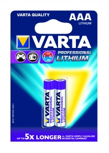 Baterie Varta Profesional 6103, R3 / AAA, Lithium, 2 buc