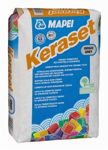 Adeziv gresie si faianta Mapei Keraset, gri, pentru interior / exterior, 25 kg