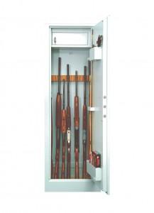 Dulap arme IV-6-11 209, tabla 2 mm, 2 usi, gri deschis, 536 x 315 x 1562 mm