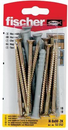 Diblu universal din nylon, cu surub, 8 x 80 mm