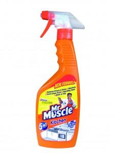 Solutie spray pentru bucatarie Mr Muscle 5 in 1, aroma lamaie, 500 ml