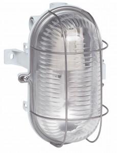 Aplica ovala 060419, 1 x E27, IP44 gri metal