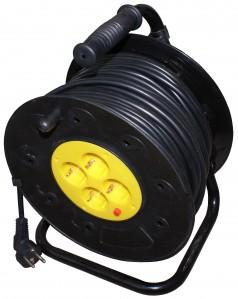 Derulator cablu electric, 4 prize, 25 m, 3 x 1.5 mmp, contact de protectie