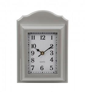 Ceas perete 9611, analog, dreptunghiular, din plastic, cu suport de chei, 26.7 x 19 cm