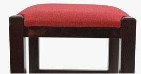 Taburet Chriss lemn culoare wenge sezut tapitat material textil