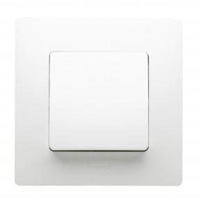 Intrerupator simplu Legrand Niloe 396426, incastrat, rama inclusa, alb
