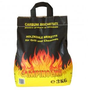 Brichete pentru gratar si camping, mangal, 3 kg