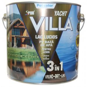 Lac pentru lemn Spor Villa Yacht, incolor, pe baza de apa, interior / exterior, 2.5 L