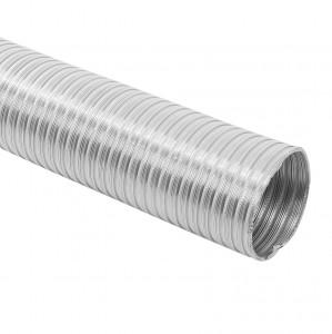 Tub flexibil pentru sisteme de incalzire si ventilare, aluminiu, D 100 mm
