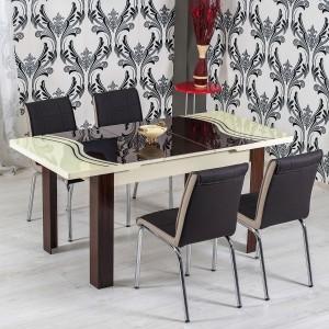 Dedeman set masa extensibila cu 6 scaune tapitate r344 for Masa cu scaune dedeman