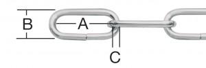 Lant argintiu cu za ovala 2 mm 106101 020