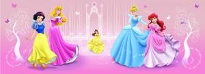 Fototapet copii duplex Disney Princess 2-003-D 254 x 92 cm
