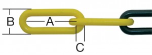Lant plastic bariera 6 mm