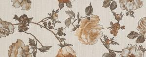 Decor faianta baie / bucatarie Nish FON-30057 cream flower mat 20 x 50 cm