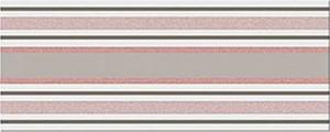 Decor faianta baie / bucatarie Bari Gris Lineal lucios 20 x 50 cm