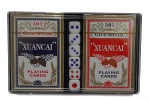 Set carti de joc si zaruri