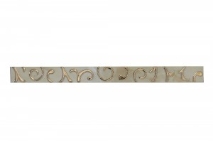 Brau faianta Onix Barok bej lucios 5 x 60 cm