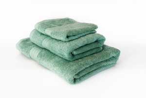 Prosop baie, bumbac, verde, 70 x 130 cm