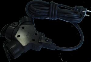 Cupla tripla 7525 cauciuc cu cablu 5 m, 3 x 1.5 mmp