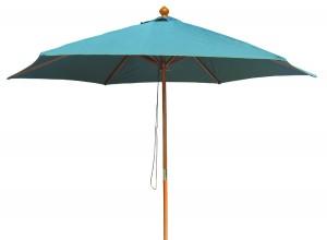 Umbrela soare pentru terasa  WH6618  rotunda structura lemn verde D 300 cm