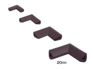 Coltar protector muchii din spuma de cauciuc AC-159, maro, grosime 4 mm
