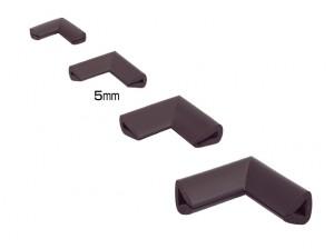 Coltar protector muchii din spuma de cauciuc AC-153, maro, grosime 9 mm