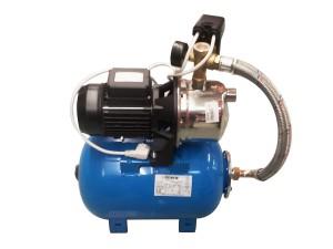 Hidrofor Saer M99, cu pompa autoamorsanta din inox + vas 24 L + presostat + manometru + furtun flexibil + racord 5 cai, 750 W