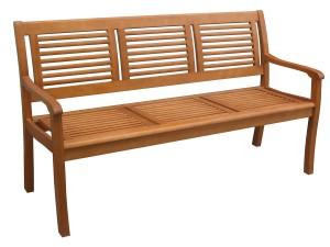 Banca pentru gradina, cu spatar, lemn, natur, 157.5 x 61.5 x 89.5 cm, TDB 976C