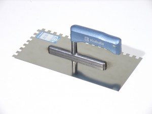 Gletiera inox, cu dinti de 8 mm, Perind Z0417, 27 x 13 cm