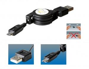 Cablu incarcare USB micro SA 041