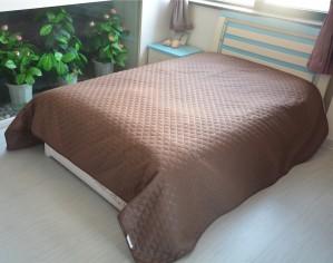 Cuvertura de pat GS2016-C, poliester, maro, 220 x 240 cm